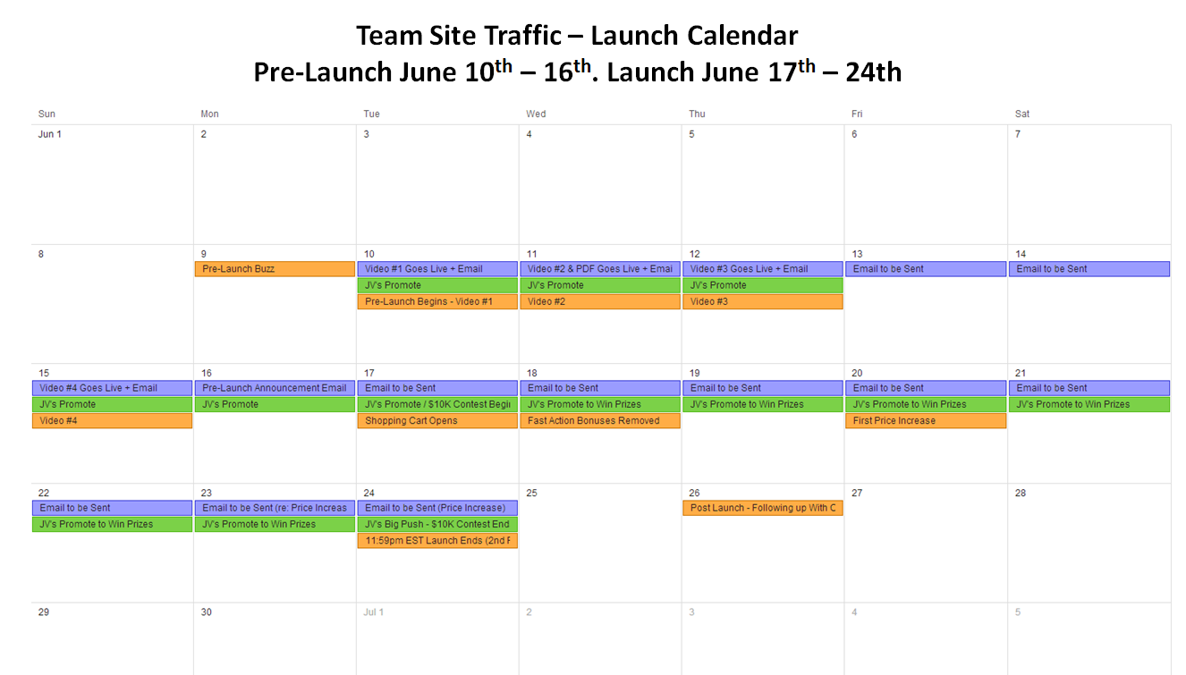 Launch Calendar